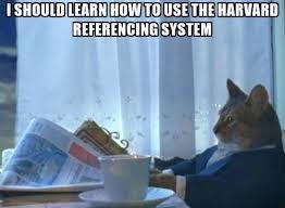 harvard referencing cat